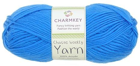 charmkey Castas hilados de lana natural suave sensación 4 de 100% acrílico hilo 4 PLY