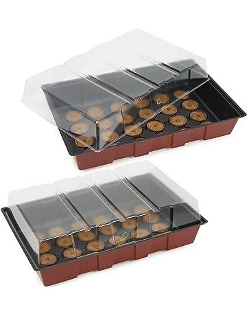 COM-FOUR® macetas de semillas e invernaderos interiores con accesorios para el cultivo de