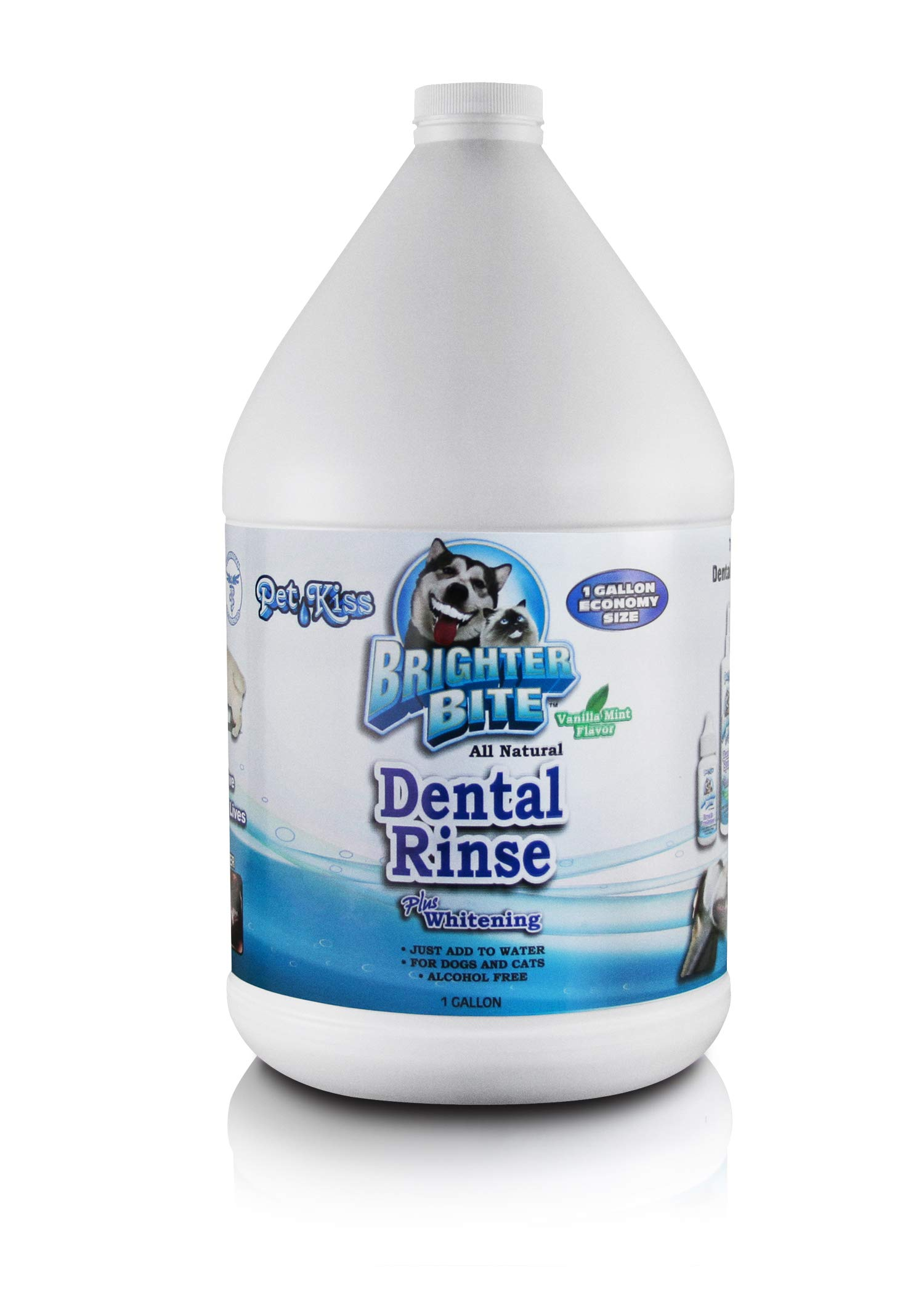 Pet Kiss Brighter Bite Dental Rinse for Pets, 1-Gallon