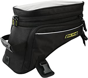 Nelson-Rigg Black Holds 12.39/16.52 Liters RG-1045 Trails End Adventure Motorcycle Tank Bag