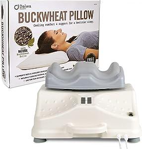 Daiwa Felicity Original Chi Swing Machine Deluxe Passive Aerobic Exerciser Circulation Machine Vitality Swing with Japanese Sobakawa Buckwheat Pillow
