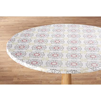 amazon com miles kimball medallion vinyl elasticized table cover rh amazon com elasticized table covers rectangular elasticized table covers round