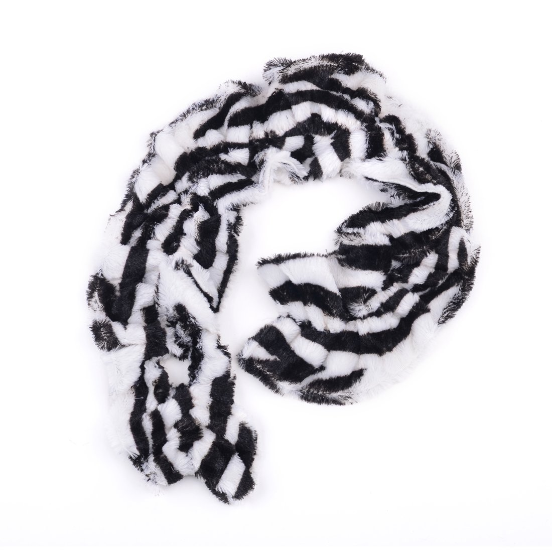 AOLOSHOW Winter Warm Fuax Fur Infinity Cowl Scarf Various Styles and Colors