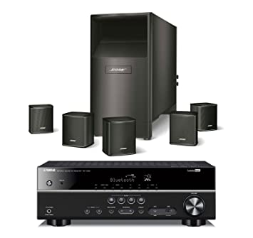 Amazon bose acoustimass 6 series v wired home theater speaker bose acoustimass 6 series v wired home theater speaker system black with yamaha rxv383bl publicscrutiny Choice Image