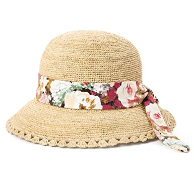 Image Unavailable. Image not available for. Colour  Siggi 100% Raffia Straw  Crochet Hat Packable UPF Summer Beach ... d69628a7bbb7