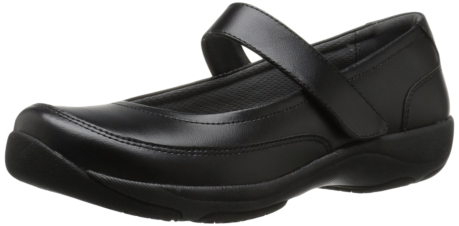 Dansko Women's Edith Mary Jane Flat, Black Leather, 37 EU/6.5-7 M US