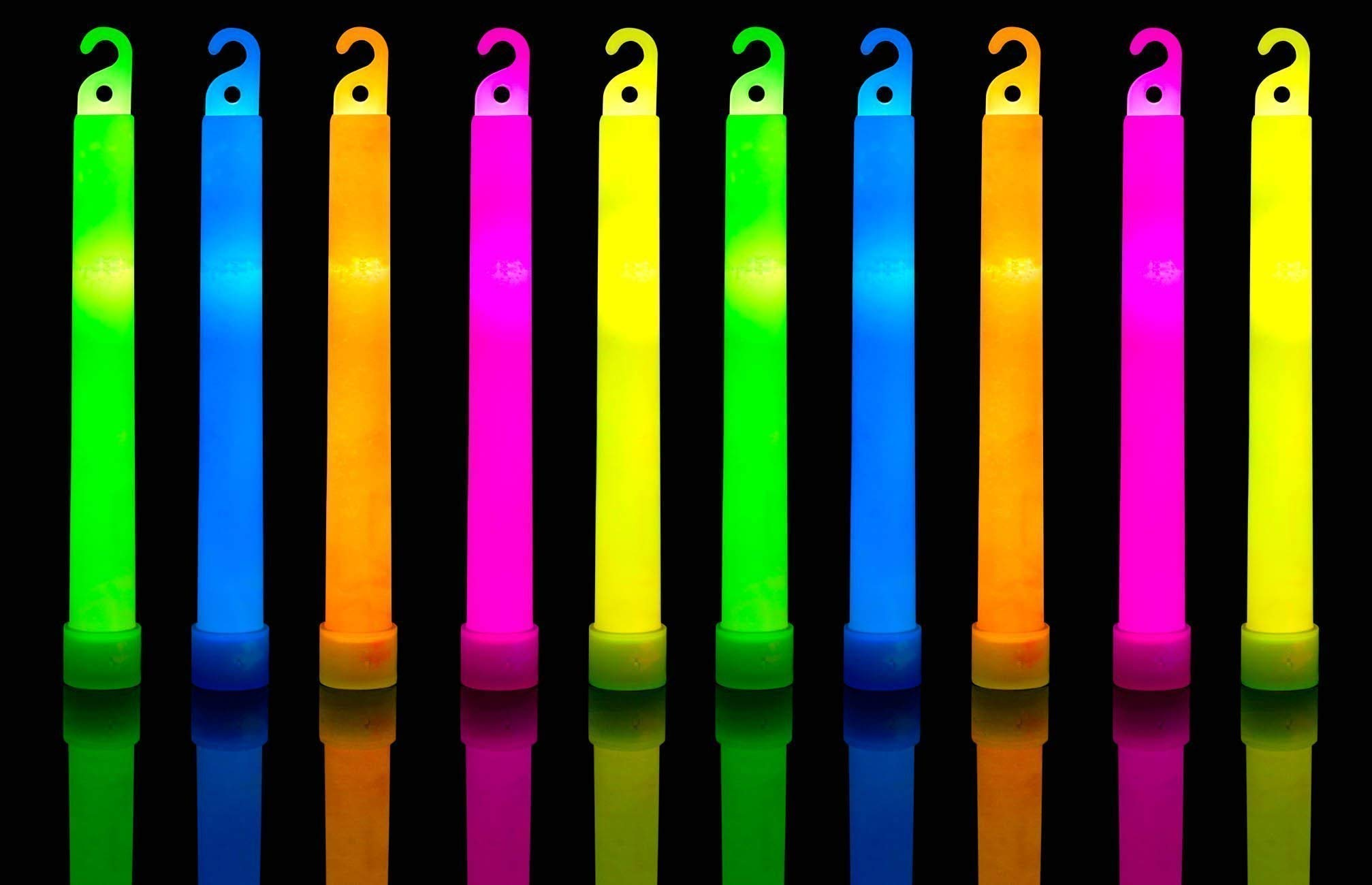 30 Ultra Bright Glow Sticks Plus 30 Party Strings - Total 60 Pcs - Bulk Pack Industrial Grade - 6 Inch Waterproof Glow Stick - Glow Light With 12 Hour Duration - Mixed Colors - Bend, Shake To Activate by HSGUS (Image #3)