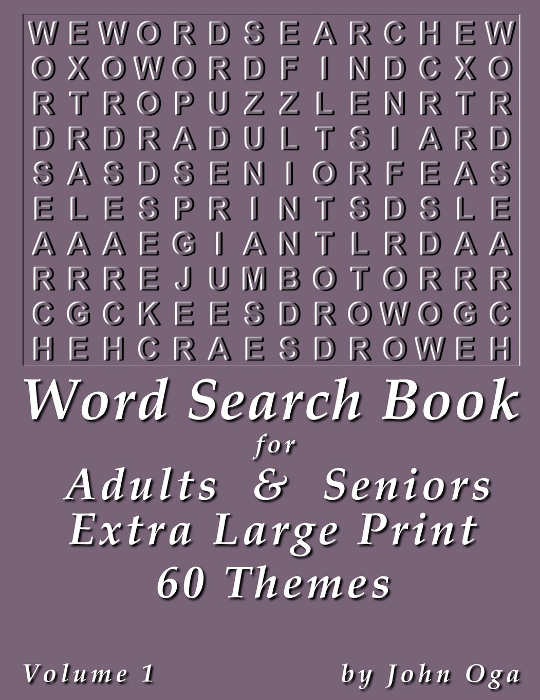 - Word Search Book For Adults & Seniors: Extra Large Print, Giant 30