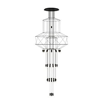 9005 0375 Vibia Wireflow Chandelier Ral Laqué Suspension LedNoir Ybf7gy6v