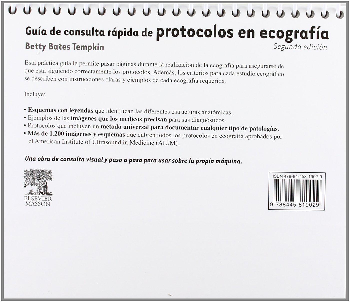 Guía de consulta rápida de protocolos en ecografía: Amazon.es: B ...