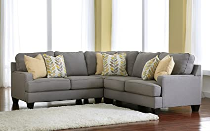 Chamberly 24302 55 77 56 3PC Sectional Sofa With Left Arm Facing Loveseat