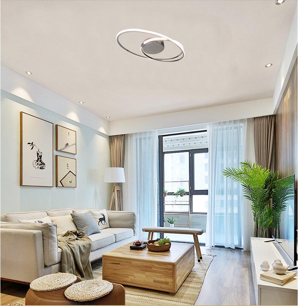 Amazon.com: Lámpara de techo moderna LED con lámpara de ...