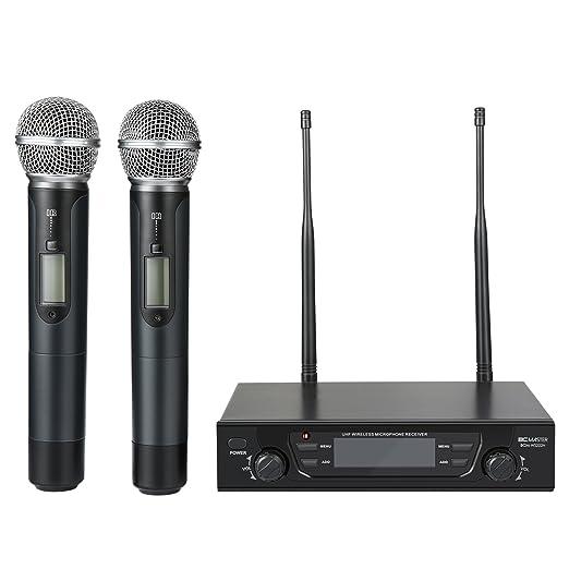 10 opinioni per BC Master 2-Canale UHF Wireless Microfono con Frequenze Selezionabili Evita