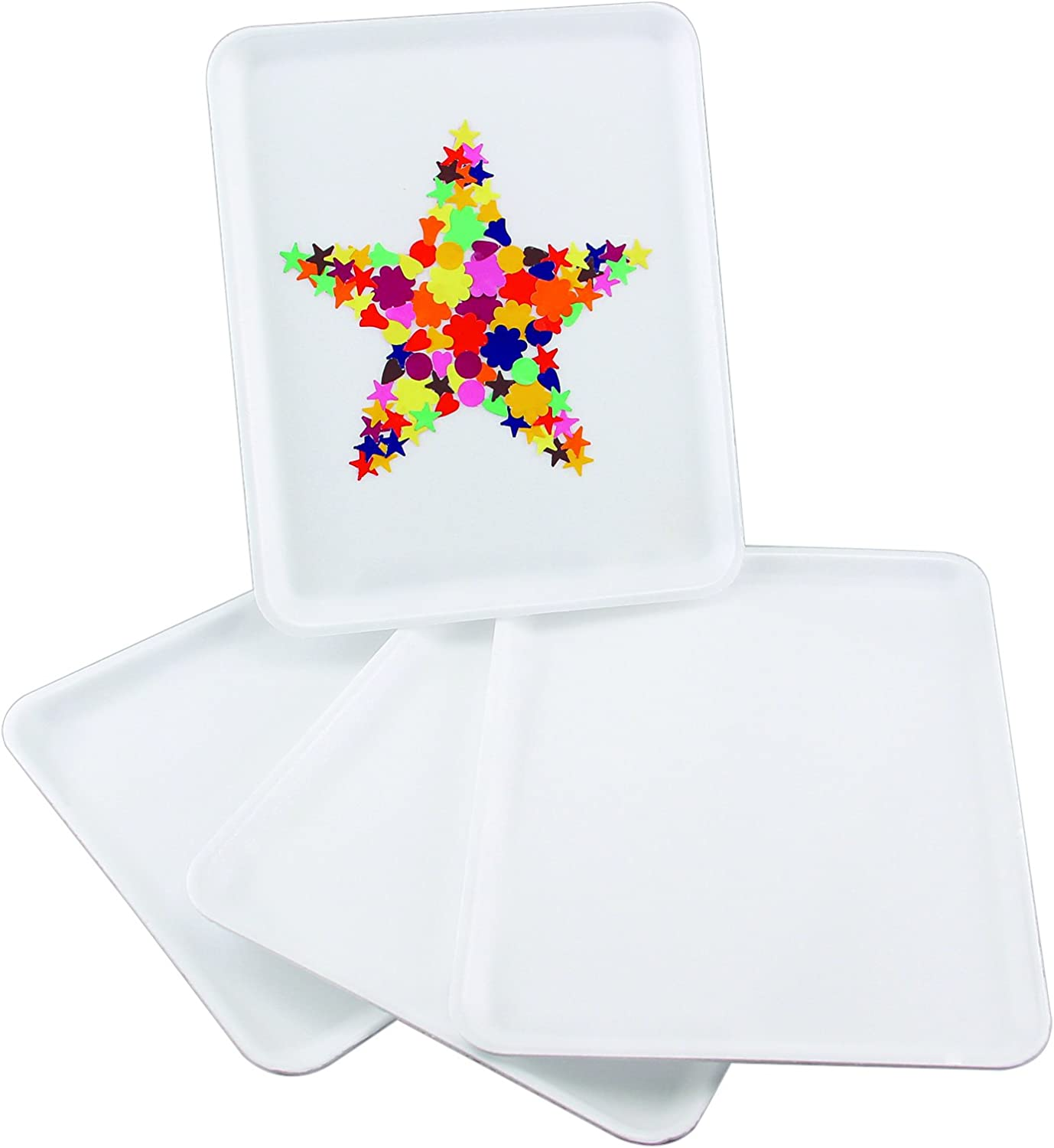 Hygloss Foam Trays for Collages and Crafts 9 x 11-Inches, 10 Pieces, White
