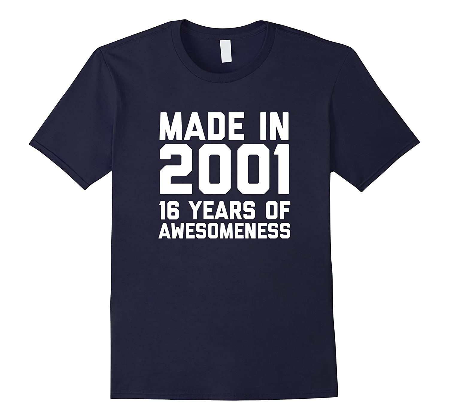 16th Birthday Shirt Gift Age 16 Year Old Boy Girl Tshirt Tee-FL