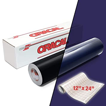 ORACAL 5400 Rollo de vinilo adhesivo reflectante negro de 12 x 24 ...