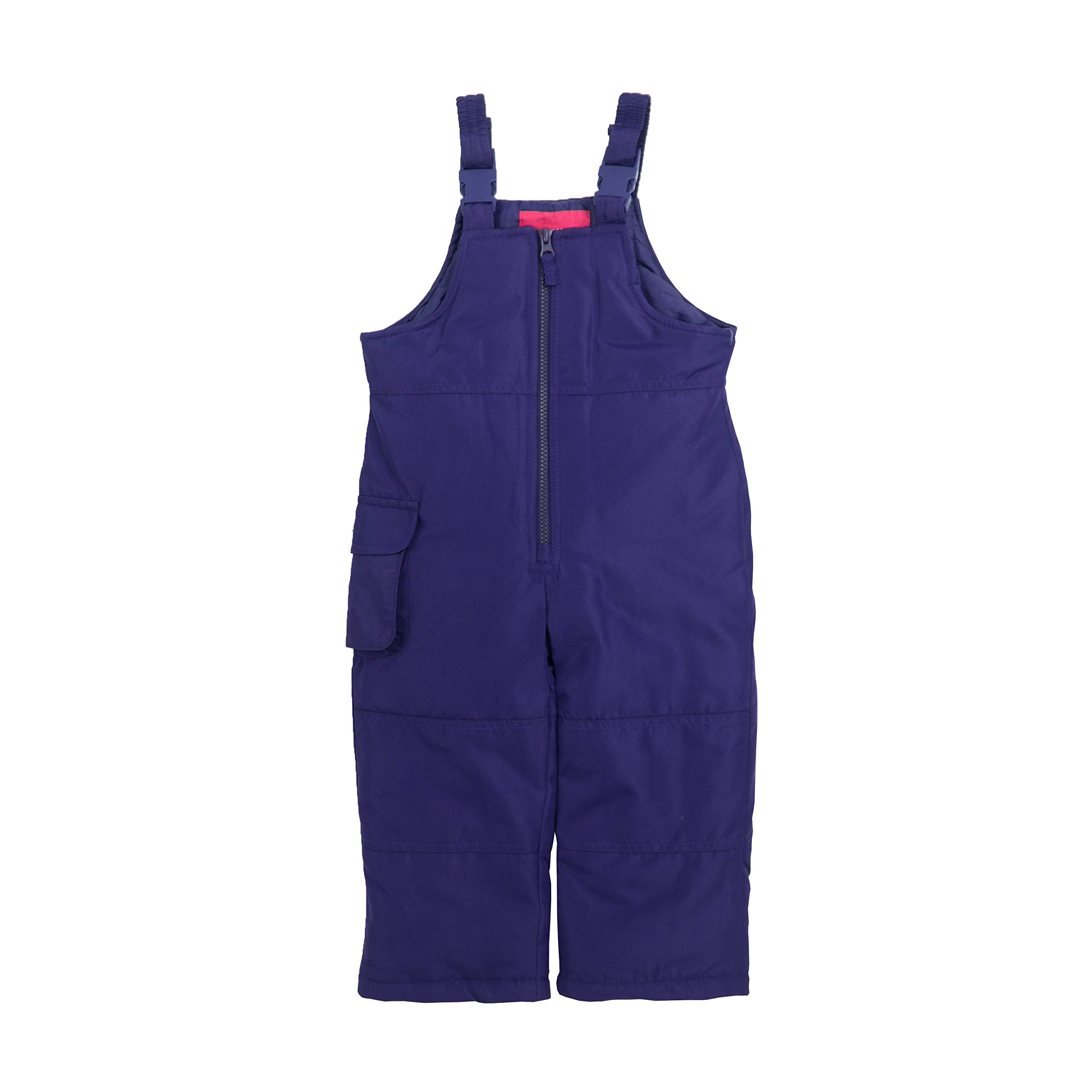 London Fog Girls' Little Classic Snow Bib Ski Snowsuit, Punk Purple, 5/6