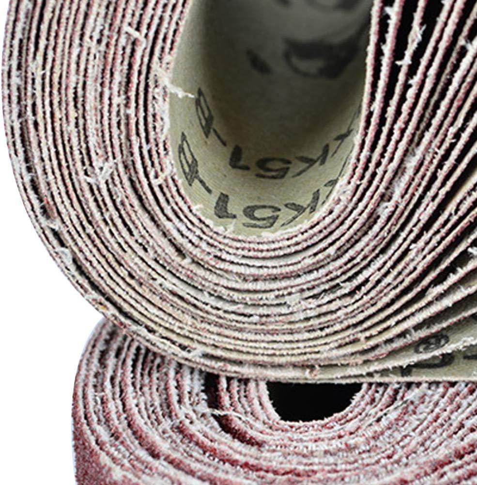 P120 SDCVRE Papel de lija Bandas de lijado de 533x75 mm 80-320 Granos Bandas abrasivas de lija para lijadoras Herramientas rotativas el/éctricas Accesorios Dremel Herramienta abrasiva