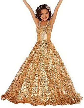 Gold Pageant Dresses for Women