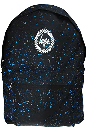 e09ea9544300 HYPE JUST HYPE Black With Sky Blue Speckle Backpack Rucksack Bag   Amazon.co.uk  Clothing