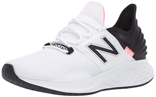 new balance Women's Fresh Foam Roav White/Black Running Shoes-4 UK (36.5  EU) (WROAVLW)