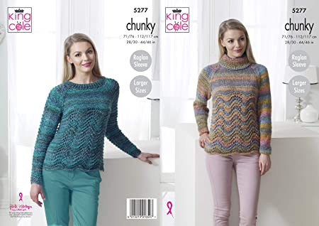 2403653d565e Image Unavailable. Image not available for. Colour  King Cole Ladies Chunky  Knitting Pattern ...