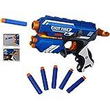 Popsugar Manual Blaze Storm Gun Blaster with 10 Foam Bullets for Kids,