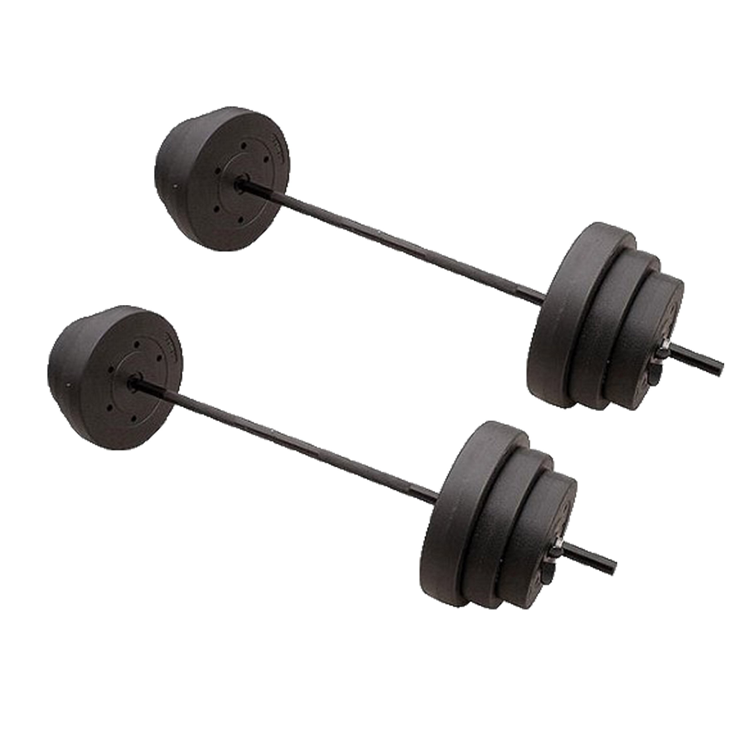 Gold's Gym 100 lbs Pounds Cement Barbell Weight Set (2 SETS)
