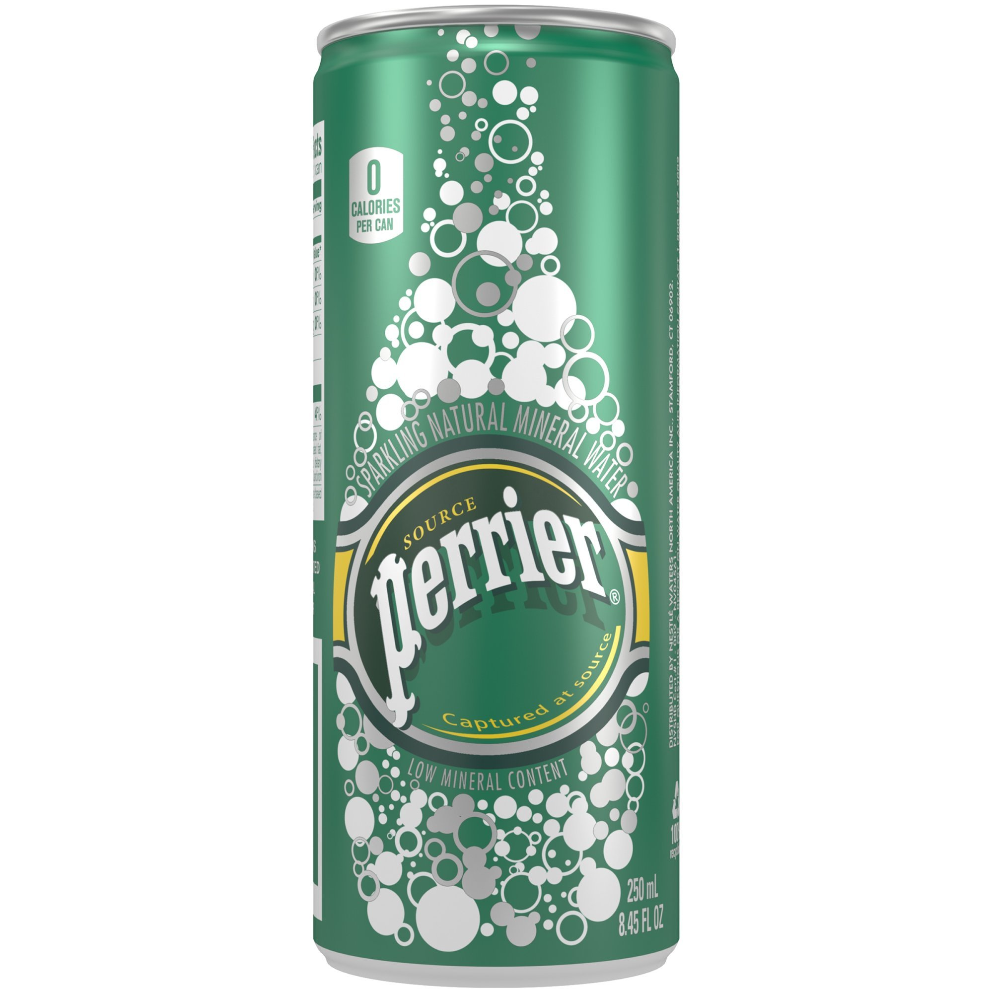 Perrier Sparkling Natural Mineral Water, Original, 8.45 Ounce (Pack of 90)