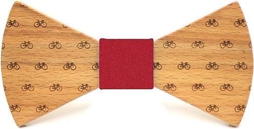 Territorial Pajarita de madera Bike. Colección de moda hombre: Confeccionada en España Wood. Línea boda y eventos. Regalo elegante y original. Nudo a elegir (Amarillo): Amazon.es: Ropa y accesorios