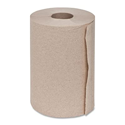 "Genuine Joe GJO22200 Hard Wound Roll Towel, 350' Length x 7-8/9"" Width, Natural (Case of 12): Industrial & Scientific"