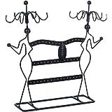 Songmics Présentoir de Bijoux Porte-bijoux Organisateur de Bracelets Colliers Boucles d'oreille Bagues JDS78B