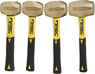 product image for ABC Hammers Brass Hammer with 8-Inch Fiberglass Handle combo of 2,3,4 & 5-Pound