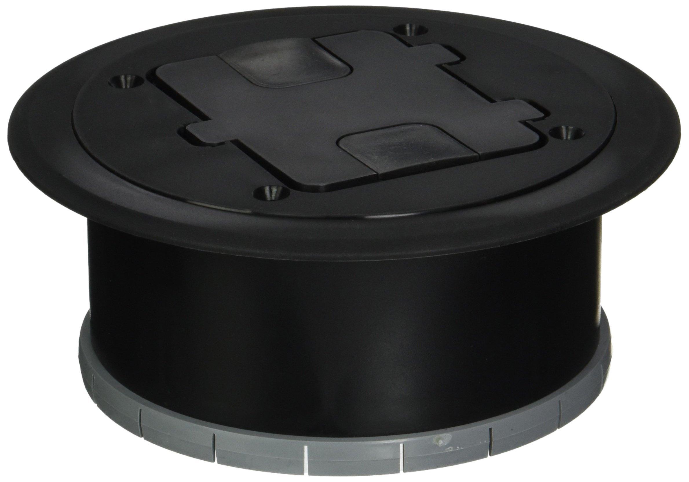 Bryant Electric RF406BK Floor Box Kit Black