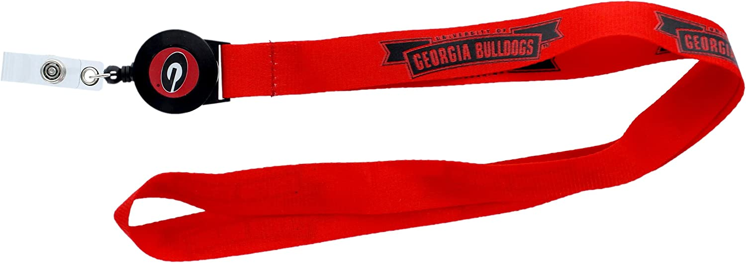 Aminco NCAA Georgia Bulldogs Badge Reel Lanyard