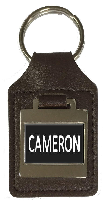 Leather Keyring Birthday Name Optional Engraving Cameron