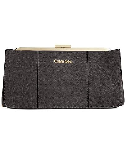 Calvin Klein - Cartera de mano para mujer negro negro y dorado: Amazon.es: Zapatos y complementos