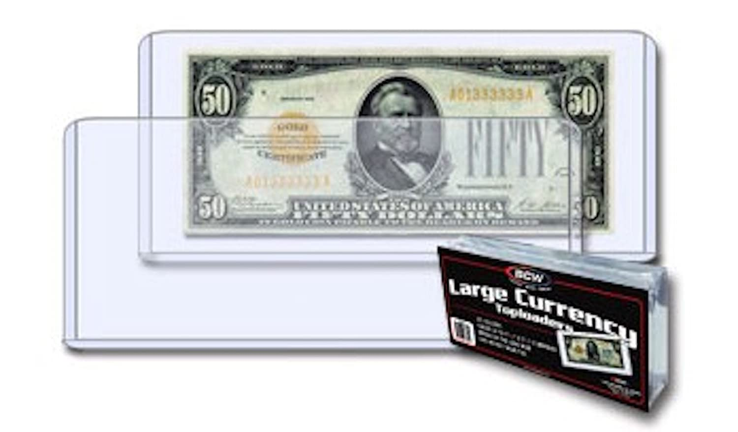 BCW 1-TLCH-LB Currency Topload Holder - Large Bill