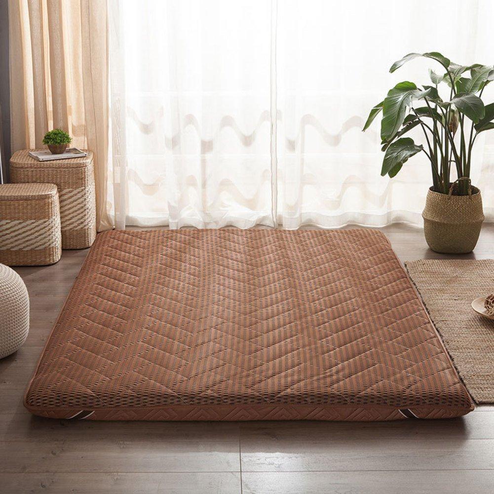 RYQS 4 d Respirable Esponja Tatami Colchón,Inicio Dormitorio Solo Doble Espesar Estera de meditación 8 cm-D 90x200cm(35x79inch)