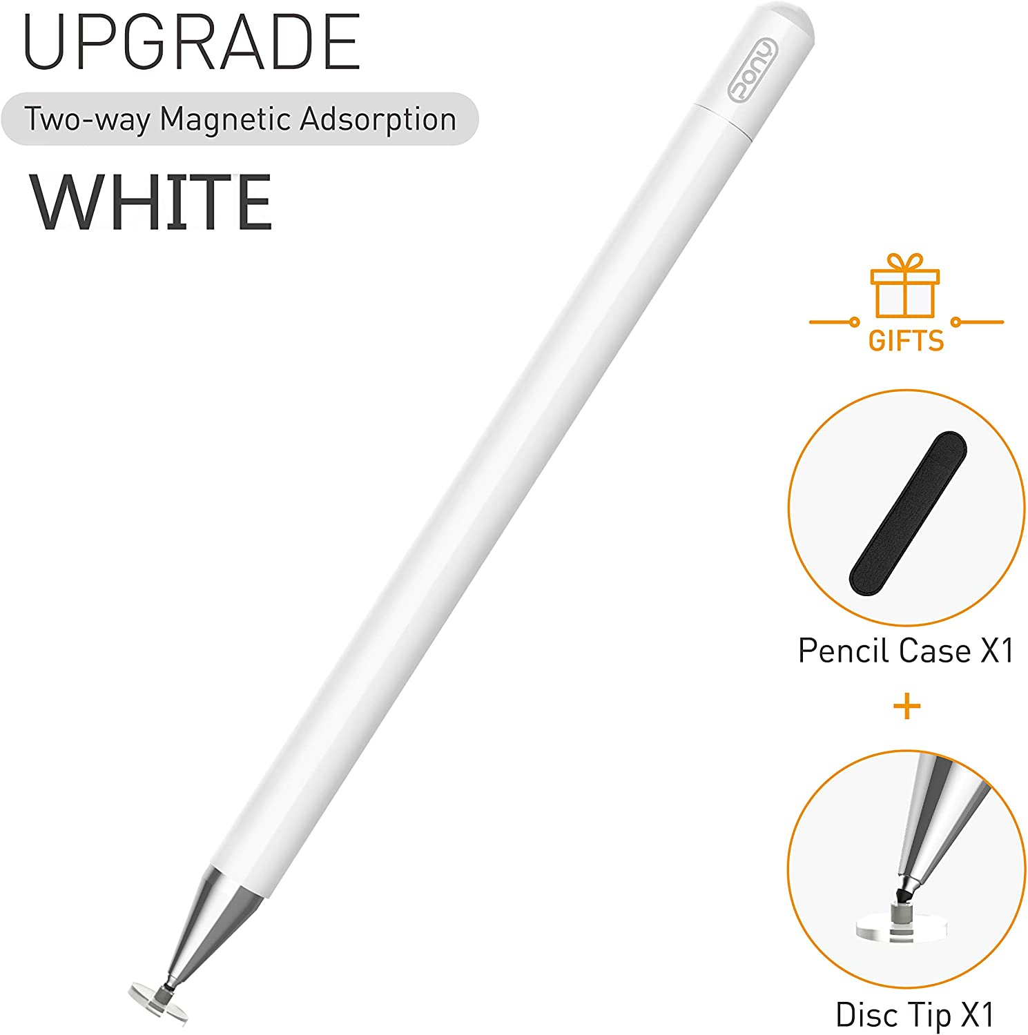 Stylus pens for ipad Pencil, PONY Capacitive Pen High Sensitivity & Fine Point, Magnetism Cover Cap, Universal for Apple/iPhone/Ipad pro/Mini/Air/Android/Microsoft/Surface and Other Touch Screens.