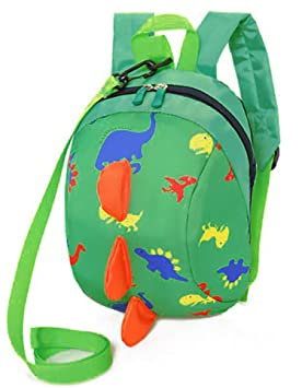 Toddler Anti-lost Backpack Zip Schoolbag Outdoor Harness Leash Reins Daypack