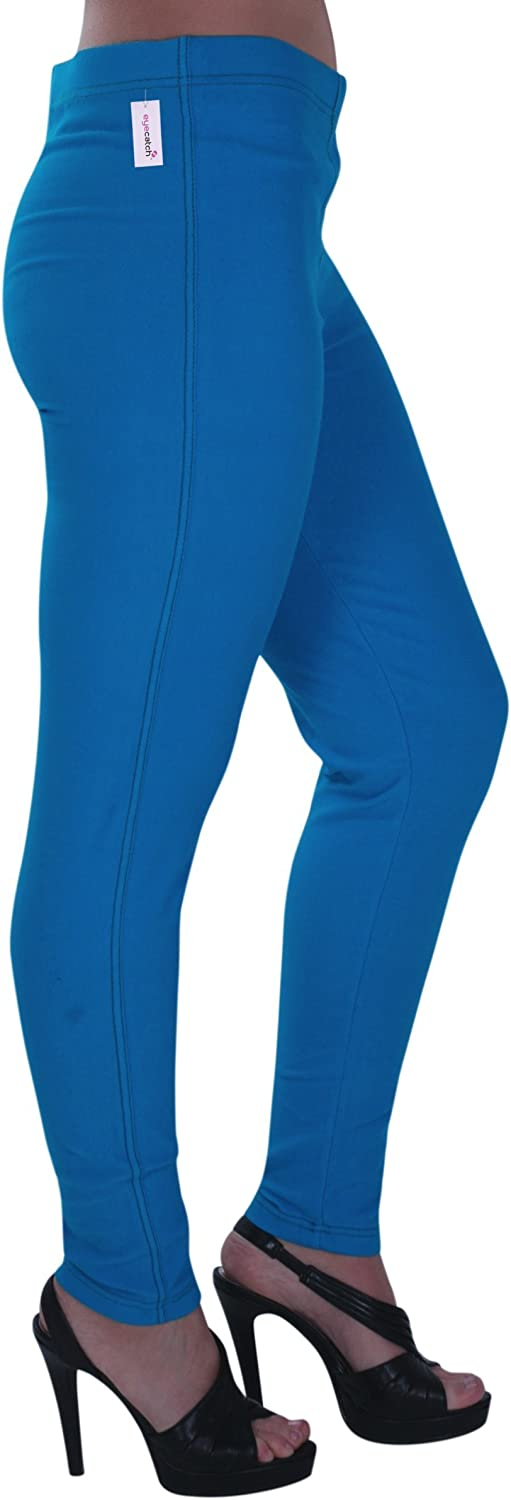Eyecatch - Starla Womens Stretch Jeggings, Ladies Trousers Jeans Plus S Turquoise