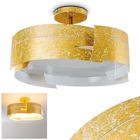 Lámpara de techo Novara color dorado, 47 cm, 3 x E27 60W max ...