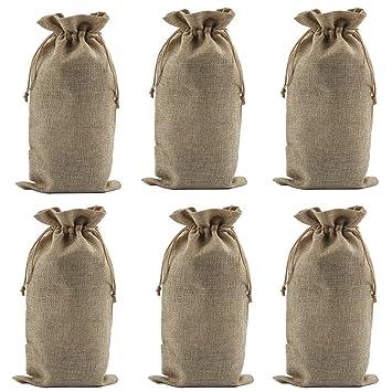 Amazon De Wein Flasche Aufbewahrung Leinen Wein Taschen Geschenk