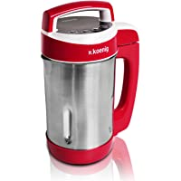 H.Koenig MXC18 Soup Maker, 1.1 Litre, 850 W, Red