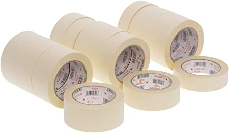 Crema Apto para Trabajos DE Pintura 36x45mm FAMA Rollo Cinta Pintor CARROCERO Adhesiva