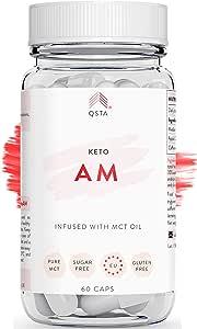 Keto Plus Pro AM (45 DAGEN) - Afvallen, Krachtige vetverbranding en snelle vetverbranding, Fat Burner & Detox, MCT C8 Olie + Appelciderazijn met Moeder, Dieetkit, GEPERSONALISEERD +ARTSEN