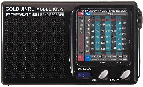 Receptor de Radio FM estéreo portátil de Banda Completa MW SW Receptor de Radio de Onda Corta COD: Amazon.es: Electrónica