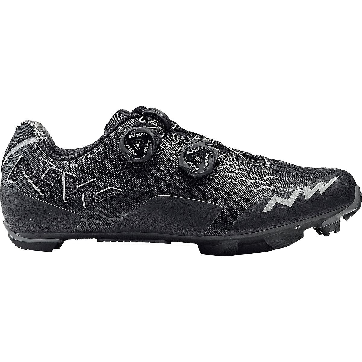 Northwave Rebel Cycling Shoe – Men 's Black/Anthracite、45.0   B07D3TLHY4
