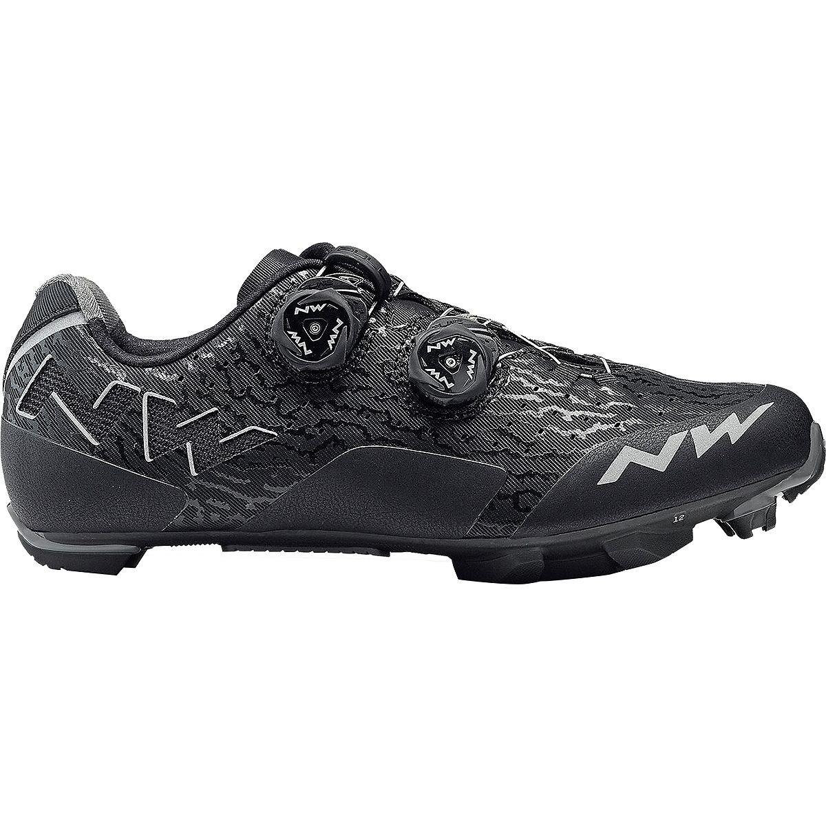 Northwave Rebel Cycling Shoe – Men 's 42 ブラック/アントラシート B07D3T4213